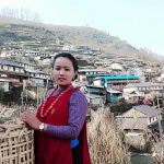 Gurung culture dress girl