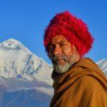 local old man at the Khopra Danda Nepal