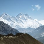 Everest base camp trek with view