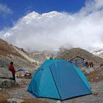 makalu base camp with clouds